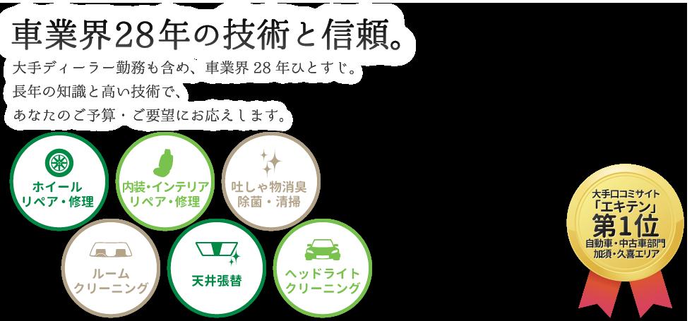 加須市・久喜市のホイール修理は【口コミNO.1】トータルリペアKへ メインイメージ
