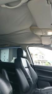 行田市プジョー307天張り交換、天井張替
