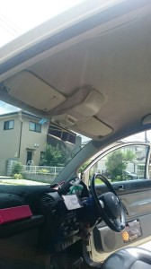 深谷市ニュービートル天張り交換、天井張替