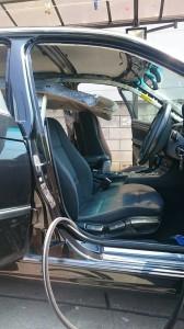 久喜市BMW3シリーズ天井張替、天張り交換