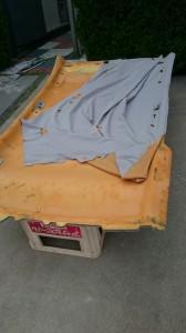 群馬県板倉町ボルボV50S40ルーフライニング(天井)張替