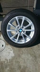 宮代町BMW3シリーズシルバーホイールガリ傷リぺア