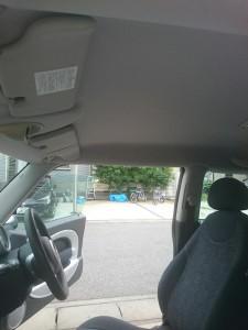 行田市ミニ(BMW)ルーフライニング(天張り)張替