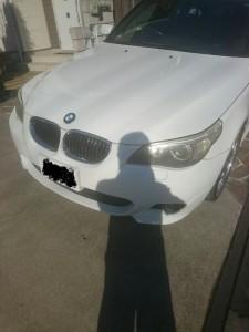 幸手市BMW5シリーズヘッドライトクリーニング