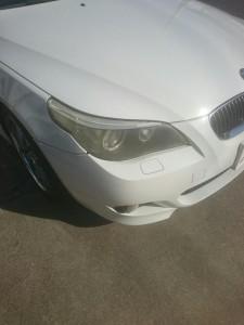 幸手市BMW5シリーズヘッドライトクリーニング&リぺア