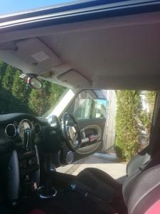 群馬県館林市ミニ(BMW)ルーフライニング(天張り)張替