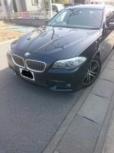 茨城県古河市BMW5シリーズシルバーホイールガリ傷リペア