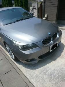 群馬県伊勢崎市BMW5シリーズルーフライニング(天張り)張替