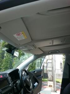 久喜市フォルクスワーゲンティグアンルーフライニング(天張り)張替