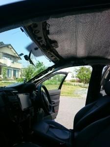 蓮田市フォルクスワーゲンポロルーフライニング(天張り)張替