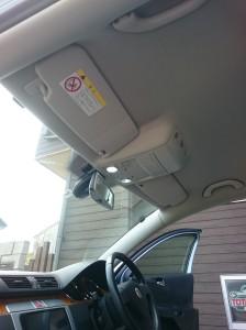 茨城県五霞町フォルクスワーゲンパサートルーフライニング(天張り)張替