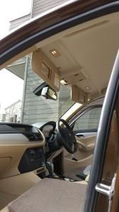 北本市BMXX1ルーフヘッドライニング張替(天張り)