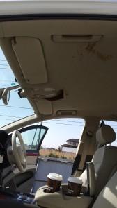 加須市アウディQ7ルーフヘッドライニング(天張り)張替