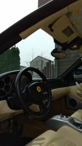 志木市フェラーリ360モデナルーフヘッドライニング(天張り)張替