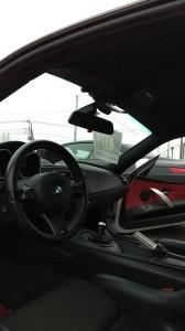 上尾市BMWZ4ルーフヘッドライニング(天張り)張替