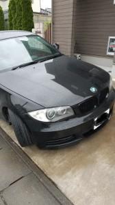 蓮田市BMW1シリーズガンメタホイールガリ傷リペア