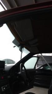 上尾市メルセデスベンツCクラスルーフヘッドライニング(天張り)張替え